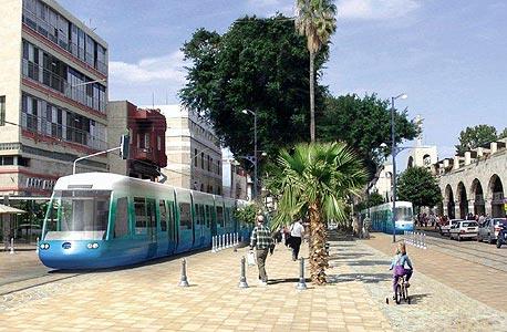 הדמיה של הרכבת הקלה בשדרות ירושלים