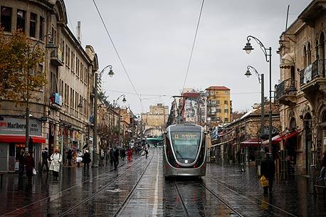 הרכבת הקלה בירושלים. צפויה לעבור במתחם החדש