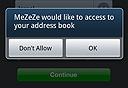 הבקשה של MeZeZe להשתמש בספר הכתובות