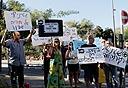הפגנה של עובדי ערוץ 10 (ארכיון)