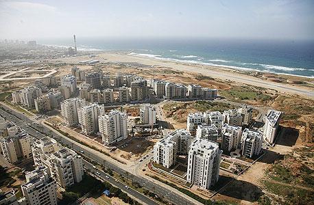 צילום אוויר של הגוש הגדול בתל אביב