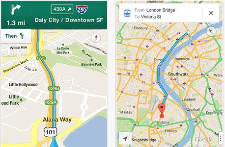 גוגל iOS אייפון ניווט מפות