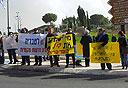הפגנה של עובדי חדשות מקומיות (ארכיון)