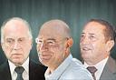 מימין: יוסי מימן, ארנון מילצ'ן ורון לאודר