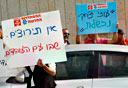 הפגנה של בוחני נהיגה, צילום: עטא עוויסאת