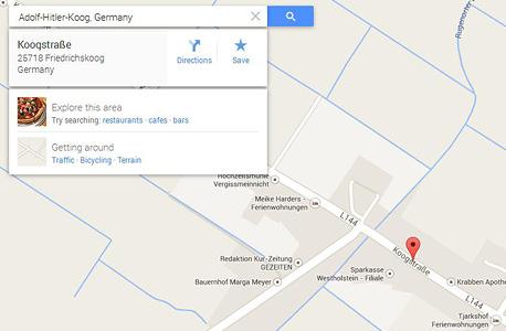 היטלר מפות גוגל Maps