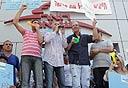 מחאה של עובדי הדואר (ארכיון), צילום: אוראל כהן