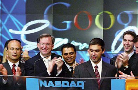 גוגל 10 שנים הנפקה