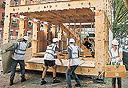 בית מעץ לבוד בהרכבה עצמית