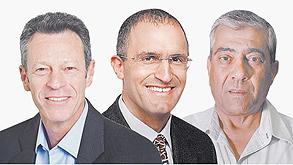 מימין: יגאל דמרי, אורן הוד ודרור מגל, צילום: חיים הורנשטיין, סיון פרג', תמר מצפי