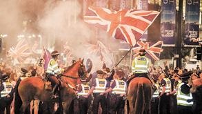 הפגנה של המתנגדים לעצמאות סקוטלנד, צילום: אי פי איי