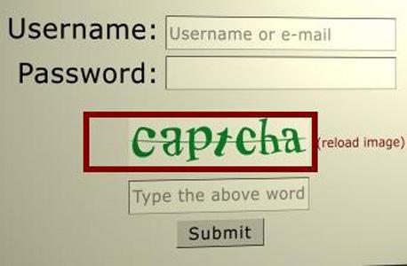 קאפצ'ה גוגל אימות זהות בוטים
