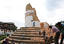 הריסות מגדל דרהרה בקטמנדו, בירת נפאל, צילום: איי פי