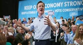 דיוויד קמרון נואם בעצרת לקראת ה בחירות ב בריטניה, צילום: אימג'בנק, Gettyimages