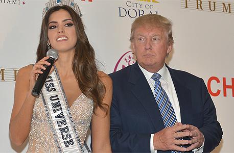 דונלד טראמפ מיס יוניברס 2014, צילום: איי פי