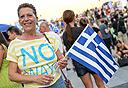 אתונה במשאל העם, צילום: איי אף פי