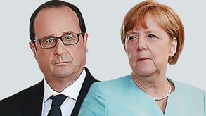 אנגלה מרקל ופרנסואה הולנד, צילום: איי אף פי