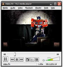 נגינת סרטון בפורמט flv ב-VLC