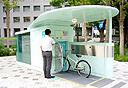 """מתקן ביפן לאחסון אופניים, קרדיט: יח""""צ"""