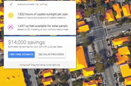 גוגל אנרגיה סולארית