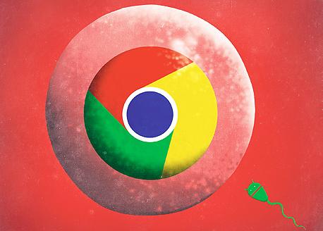 גוגל כרום אנדרואיד, איור: יונתן פופר