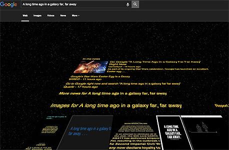 בשולי הרשת מלחמת הכוכבים סטאר וורס גוגל, צילום: צילום מסך גוגל