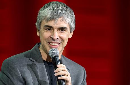 """לארי פייג'  מייסד גוגל מנכ""""ל אלפבית, צילום: בלומברג"""