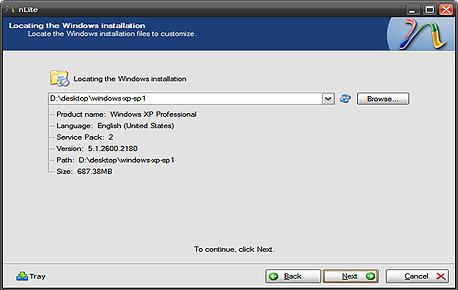 יצירת תקליטור התקנה מותאם אישית של חלונות XP עם nLite