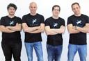 מייסדי חברת סטרים רייל. מימין: עירי עמירב, גיא ציפורי, אמיר לייטרסדורף ואור הילטש