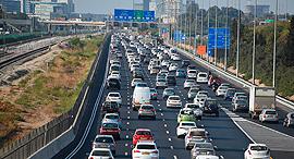 פקק תנועה נתיבי איילון מכוניות, צילום: יאיר שגיא
