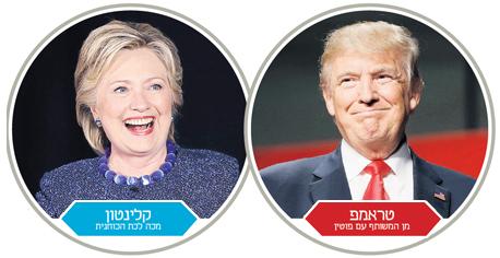 אינפו טראמפ ו קלינטון