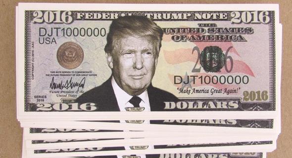 דונלד טראמפ דולר כסף, צילום: ebay