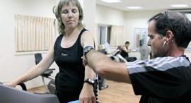 אימון כושר לחולת סוכרת, צילום: טל שחר