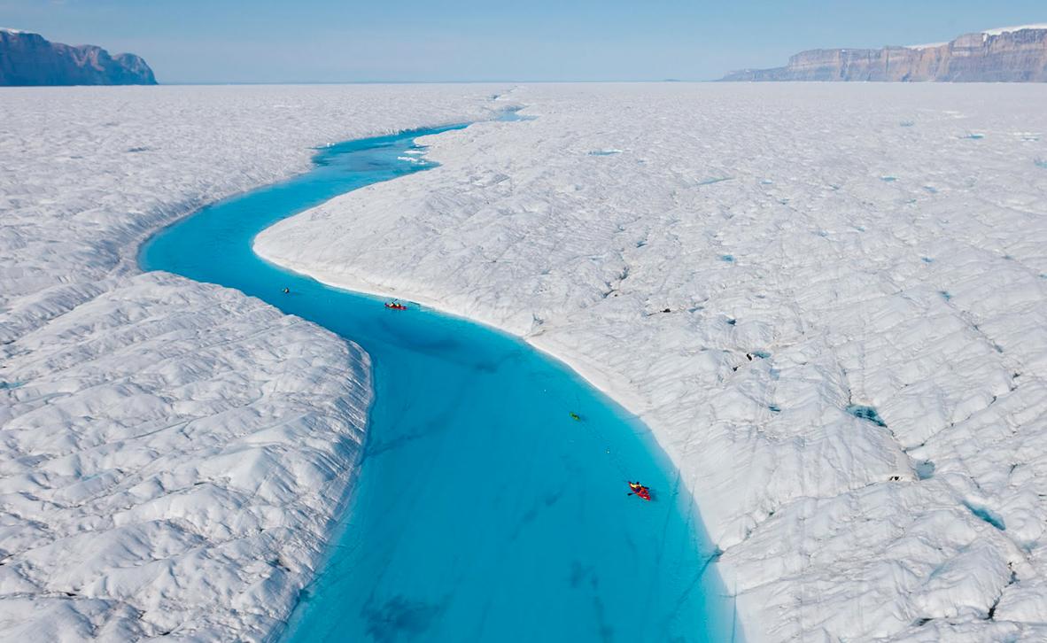 פוטו פלאי עולם מקרח הנהר הכחול גרינלנד