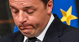 ראש ממשלת איטליה המתפטר מתאו רנצי, צילום: אי פי איי