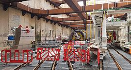 אתר בניית הרכבת הקלה בדרך בגין בתל אביב, צילום: דוד הכהן