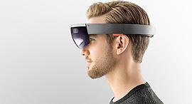 משקפי מציאות מדומה הולולנס מיקרוסופט hololens, צילום: Microsoft