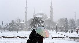 איסטנבול בשלג, צילום: אי פי איי