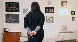 האמנית המוסלמית יארא פנאי, צילום: אלעד גרשגורן