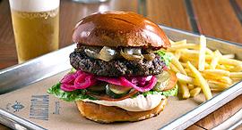 פנאי אמריקה בורגר המבורגר המבורגרים, צילום: בועז לביא