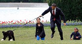 ברק אובמה ומשפחתו 2009, צילום: איי פי
