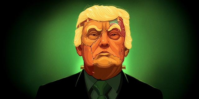 איור דונלד טראמפ שער מוסף 19.1.17, איור: דניאל גולדפרב