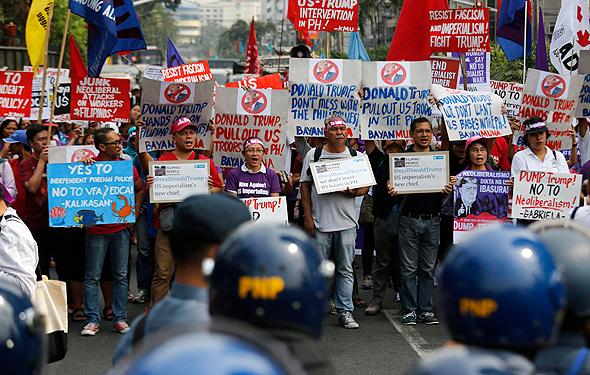 הפגנות הפגנה נגד דונלד טראמפ 20.1.19, צילום: אי פי איי