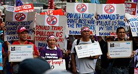 הפגנה נגד דונלד טראמפ, צילום: אי פי איי