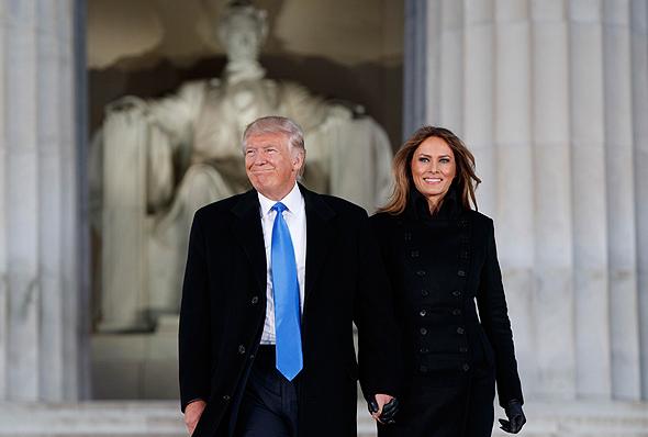 דונלד טראמפ ואישתו מלינה טראמפ, צילום: איי פי