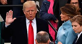 דונלד טראמפ ב טקס ההשבעה לנשיאות, צילום: איי אף פי