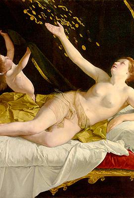 ציור של אורציו ג'נטילסקי, צילום: The J. Paul Getty Museum