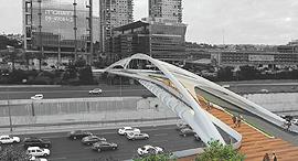 הדמיה הדמייה גשר יהודית תל אביב, הדמיה: חן אדריכלים