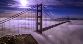 פוטו ערפל סן פרנסיסקו גשר הזהב, צילום: שאטרסטוק