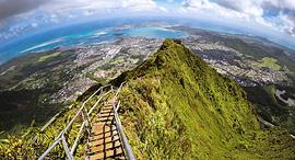פוטו טרקים מדרגות לגן עדן הוואי, צילום: שאטרסטוק